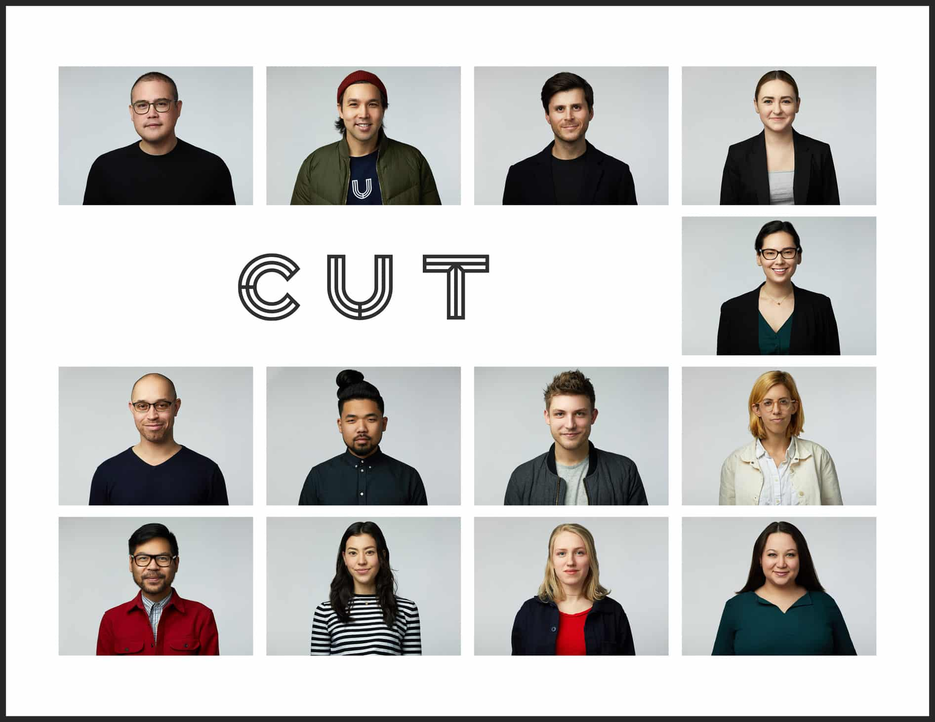 Cut.com Headshot Grid