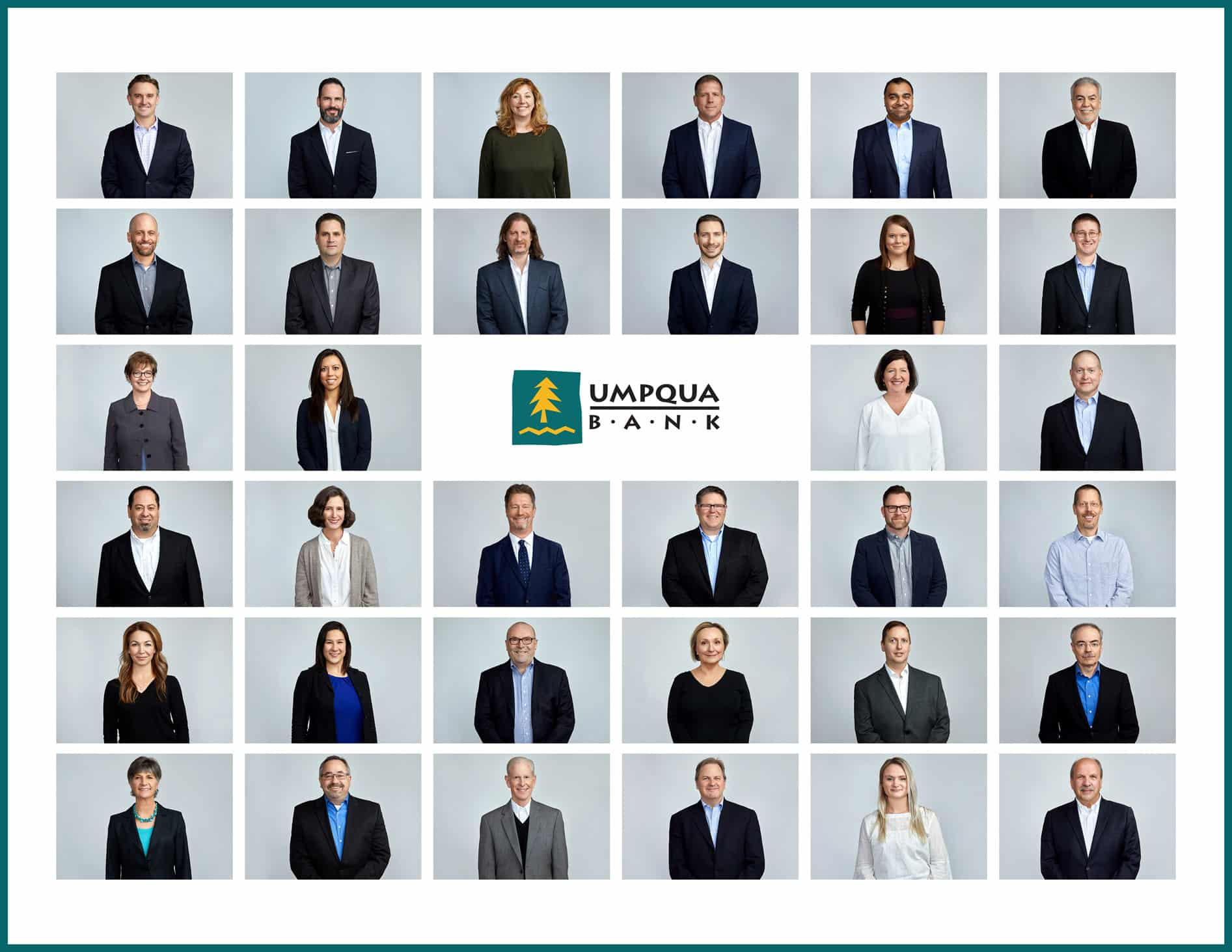 Umpqua Bank Headshot Grid